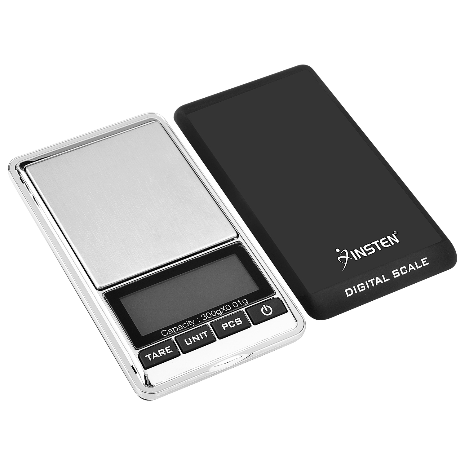 insten 300g x 001g mini digital jewelry pocket gram scale with stainless steel salver and lcd display walmartcom