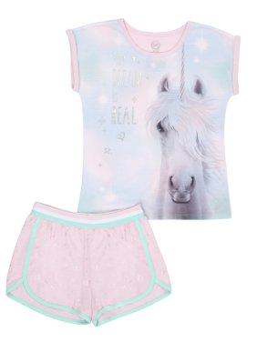 Product Image Girls  Wonder Nation 2 Piece Pajama Short Set (Little Girl    Big ... 6f5f02906