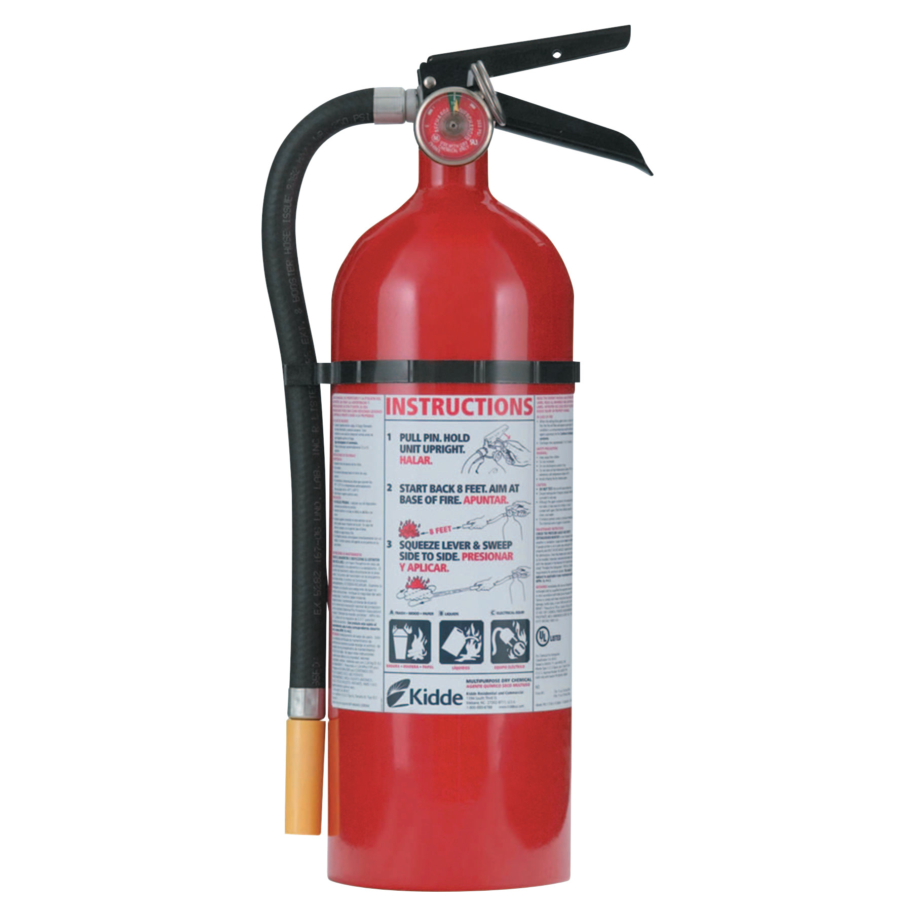 Kidde FC340M-VB Fire Control Extinguisher - ABC Type, 5.5 lb Cap. Wt.