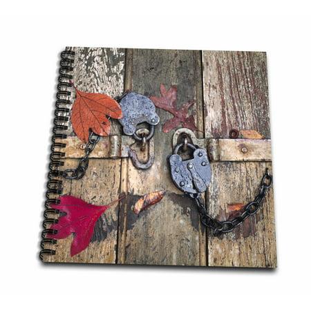 3dRose Virginia, Williamburg. Autumn, old locks - US47 RER0001 - Ric Ergenbright - Mini Notepad, 4 by 4-inch