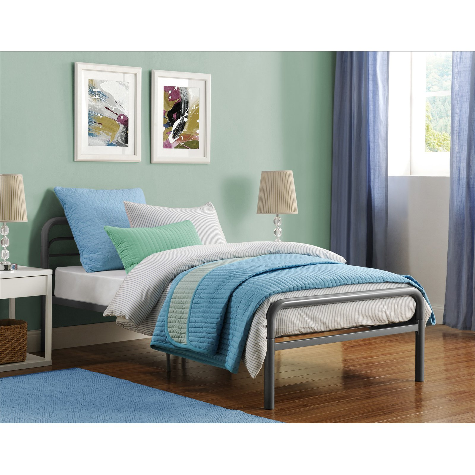 DHP Twin Metal Bed Frame, Available in Multiple Colors