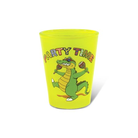Yellow Neon Shot Glass Alligator](Yellow Shots)
