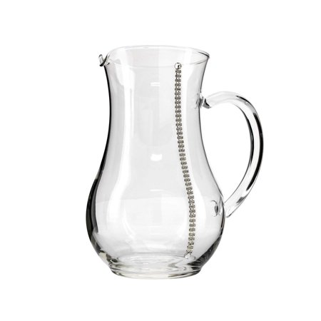 Italian Collection Crystal Pitcher, Decorated with Vertical Stripe