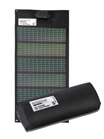 Transcend Portable Fold-Out Solar Battery Charger by Somnetics