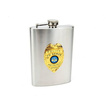 8oz Official Police Hip Flask ()