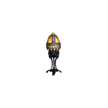 Castle Swan Accent Lamp in Amber