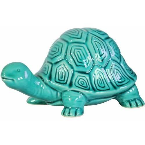 Urban Trends Collection: Ceramic Tortoise Figurine, Gloss Finish, White