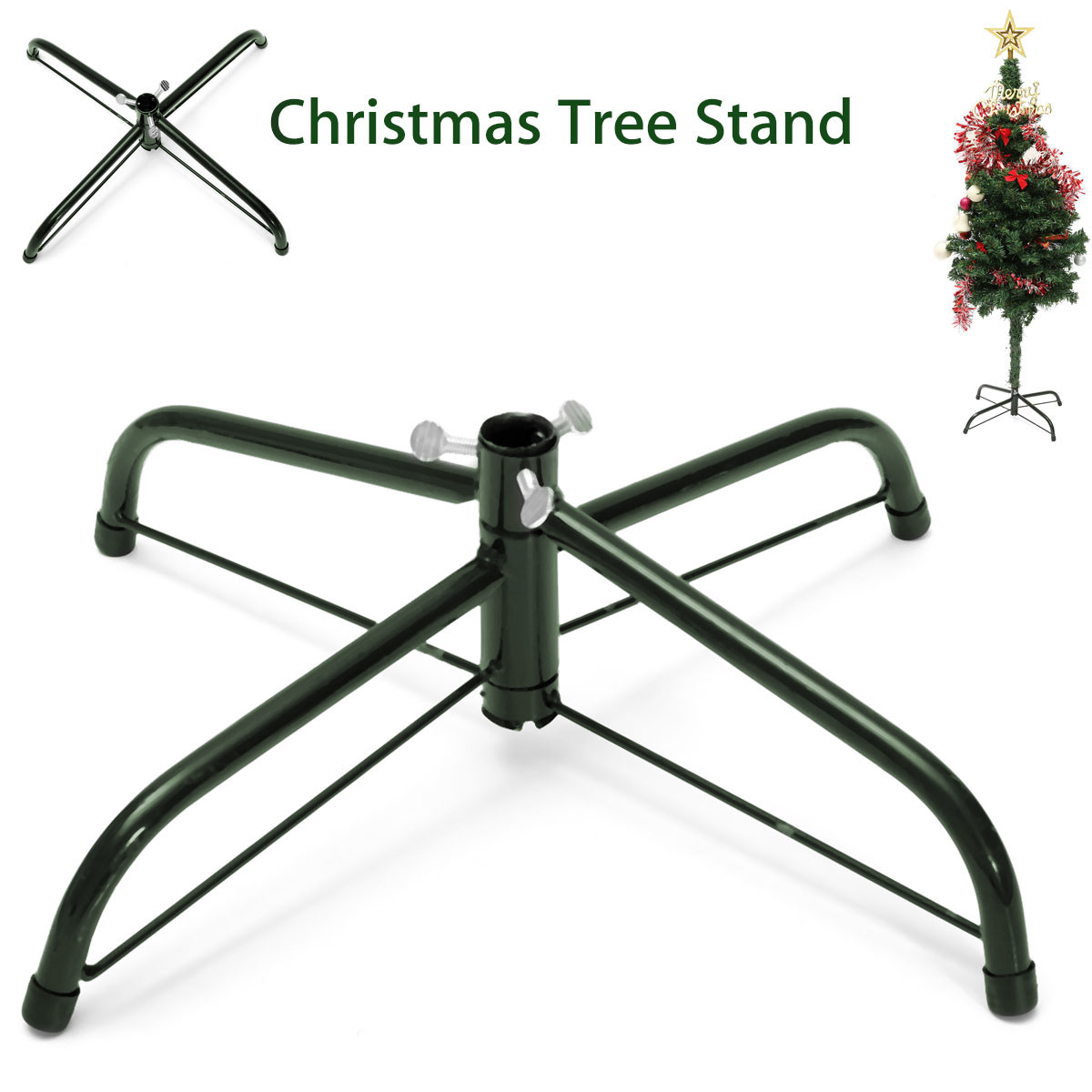 Folding Christmas Tree Stand Metal Holder Cast Iron Stand ...