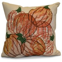 "Simply Daisy 16"" x 16"" Pumpkin Pile Geometric Print Pillow"