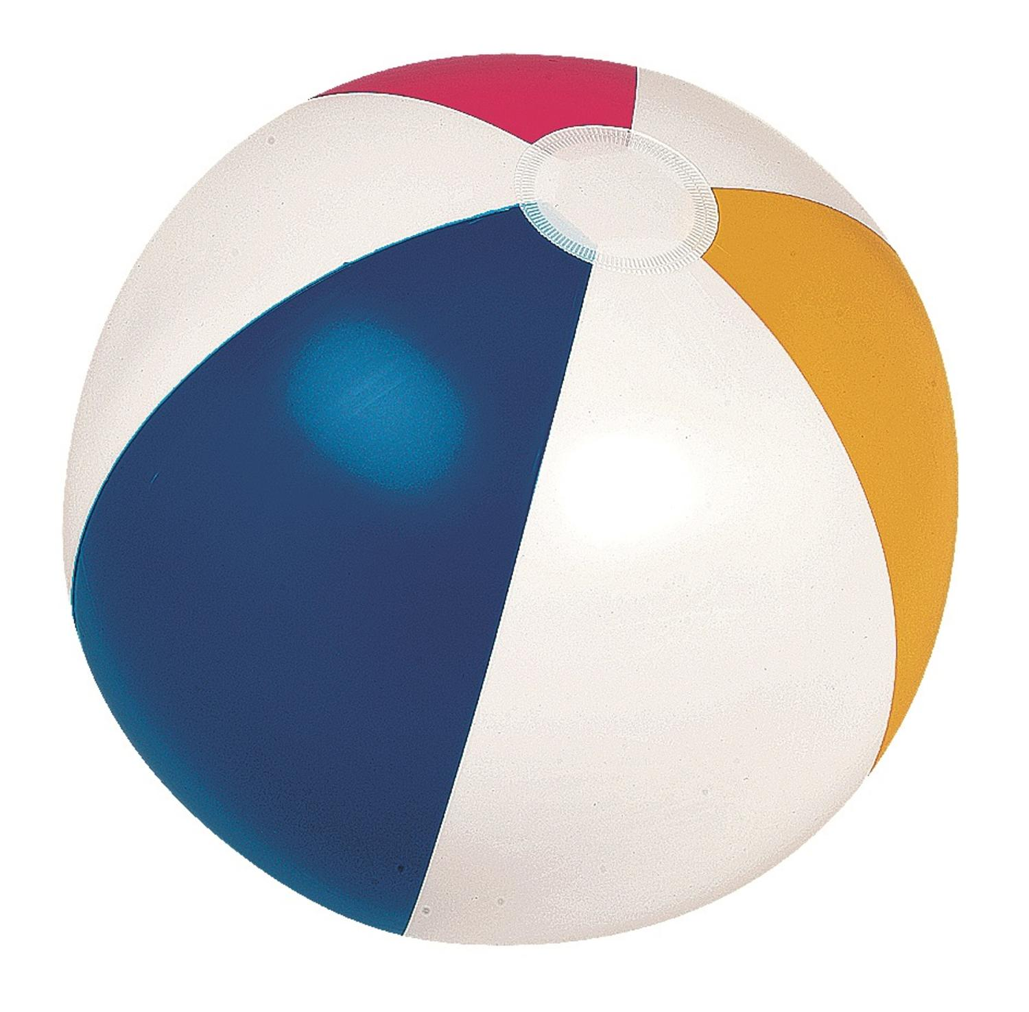 "20"" Classic Inflatable 6-Panel Beach Ball Swimming Pool Toy by Pool Central"