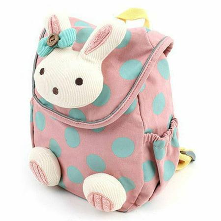 Durable Cute 3D Animal Rabbit Anti Lost Baby Backpack Toddler Kids School Bag