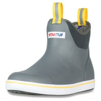 """Xtratuf Men's 6"""" Grey Ankle Deck Boots w/ Full Rubber Construction - Size 13"""