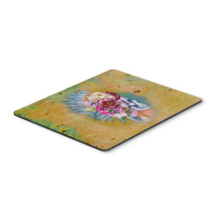Day of the Dead Flowers Skull Mouse Pad, Hot Pad or Trivet - image 1 de 1