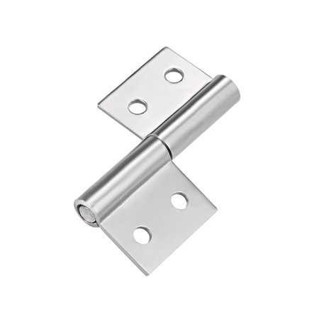 2-inch Long Steel Small Slip Joint Flag Hinge - Lift Off Lid Door (Left)