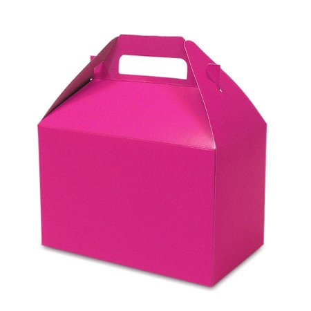 10ea - 8 X 4-7/8 X 5-1/4 Shocking Pink Hi Gloss Gable Box by Paper Mart