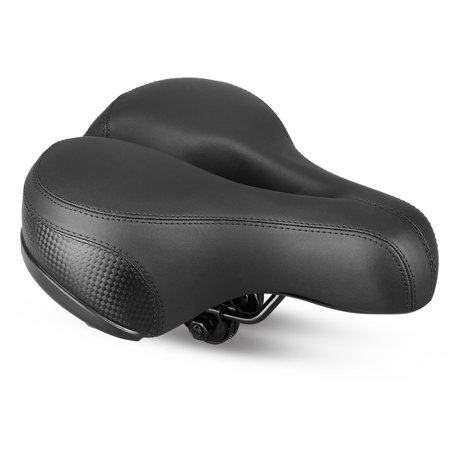 Breathable Wide Sports Bike Seat ,AUGIENB Comfort Soft Bicycle Saddle with Safe Reflective