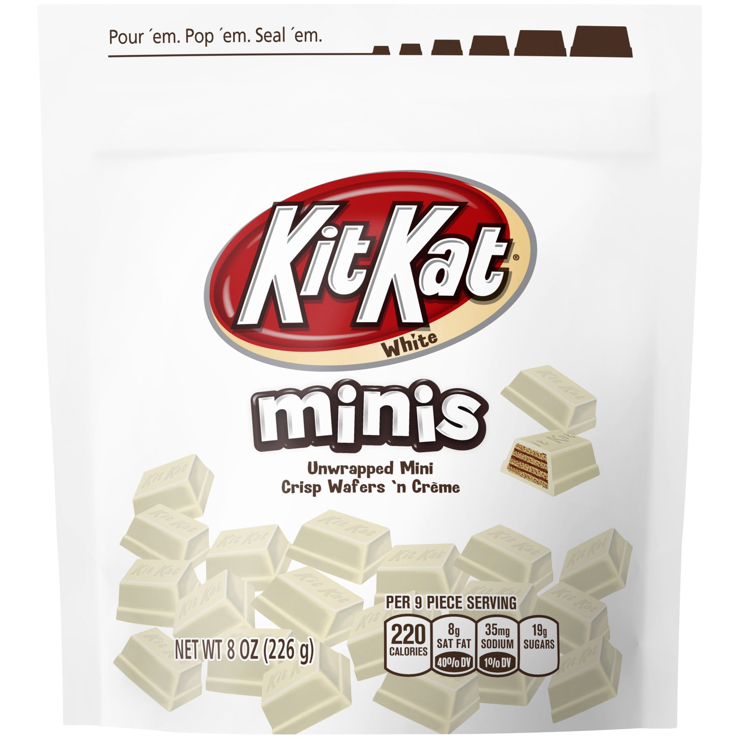 Kit Kat Minis White Chocolate Candy 8 oz. Bag by Hershey's