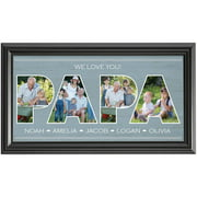 Personalized Dad Typography Photo Print, Available in Papa or Dad
