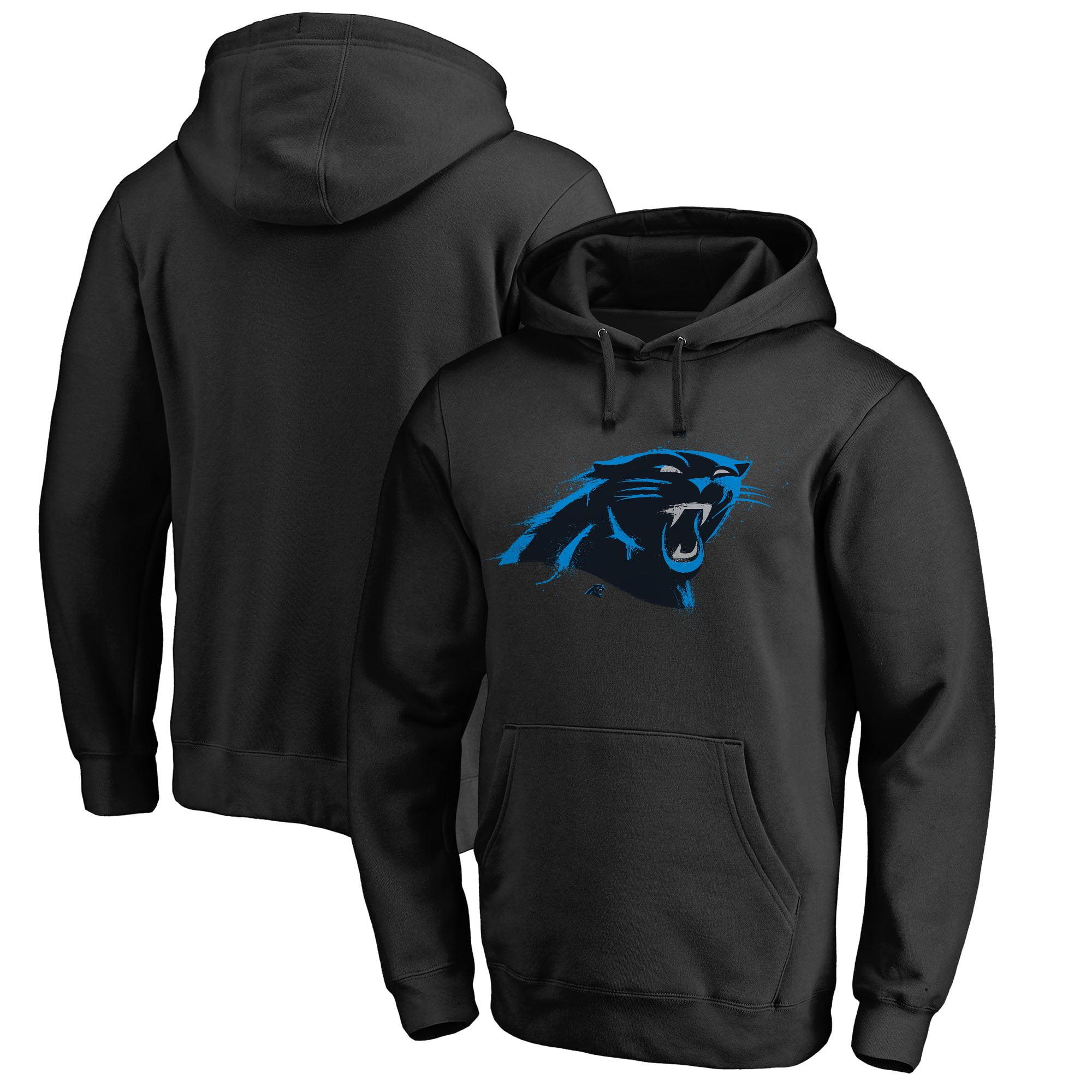 Carolina Panthers NFL Pro Line by Fanatics Branded Splatter Logo Pullover Hoodie - Black