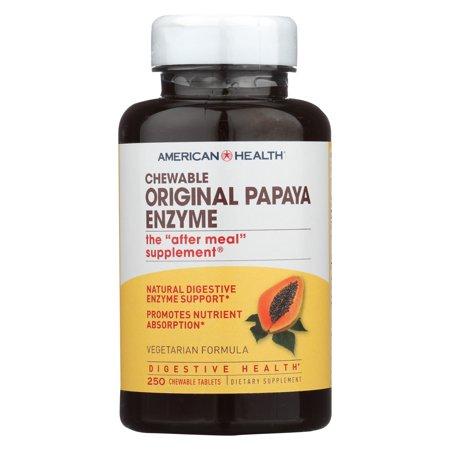 American Health - Original Papaya Enzyme Chewable - 250 Tablets Chewable Original Papaya