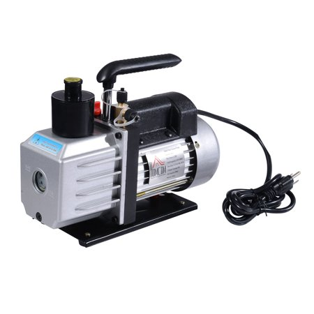Single Stage 7 CFM Rotary Vane 1/2 HP HVAC Refrigerant Vacuum Pump
