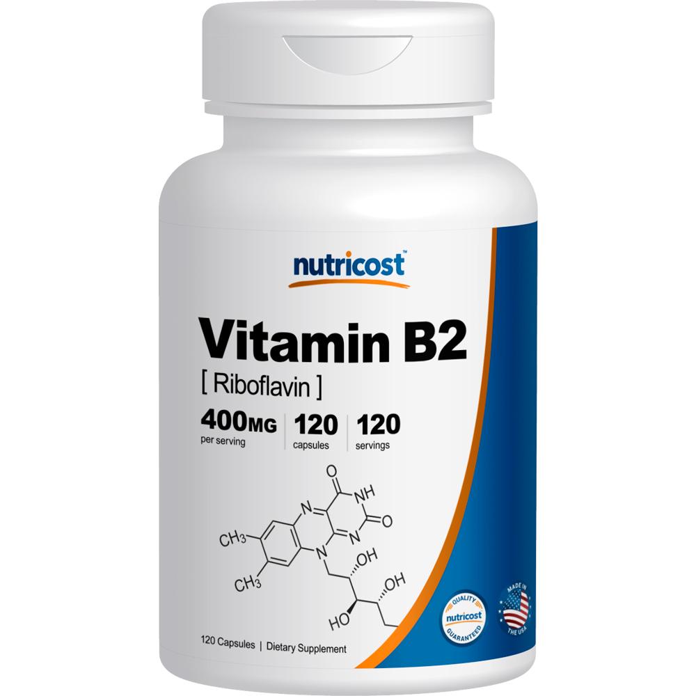 Nutricost Vitamin B2 (Riboflavin) 400mg, 120 Caps