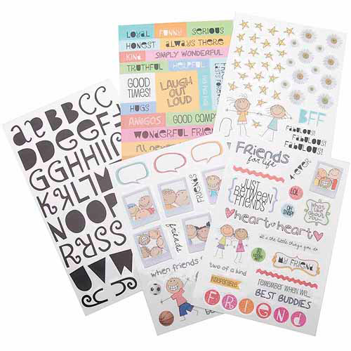 Glitter Stickers Value Pack-A Kid Like Me-Friends For Life 162/Pkg