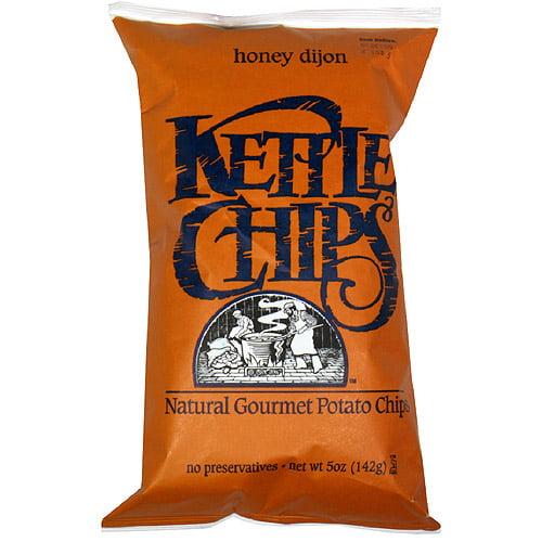 Kettle Brand Chips Honey Dijon Potato Chips, 5 oz, (Pack of 15)