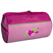 Sassi Girls Pink Hearts Flowers Small Dance Duffel Bag