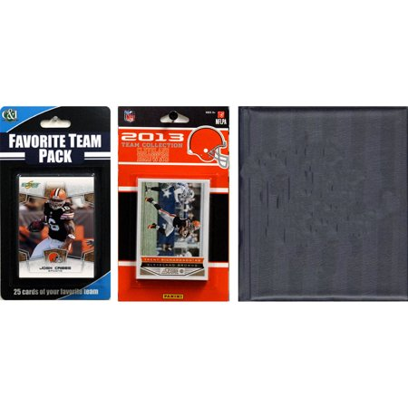 C&I Collectables NFL Cleveland Browns Licensed 2013 Score Team Set and Favorite Player Trading Card Pack Plus Storage (Cleveland Stores)