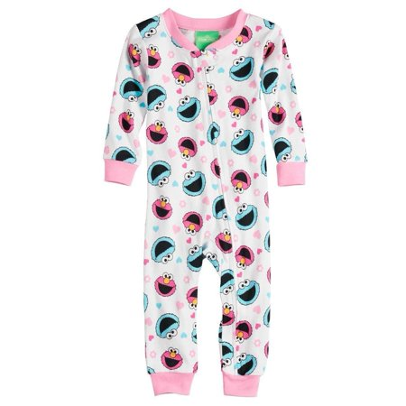 Sesame Street Toddler Girls' Elmo and Friends Cotton - Elmo Adult Onesie