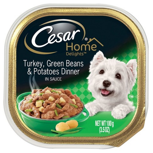 Cesar Home Delights Turkey, Green Beans, & Potatoes Wet Dog Food, Trays, 3.5 Oz