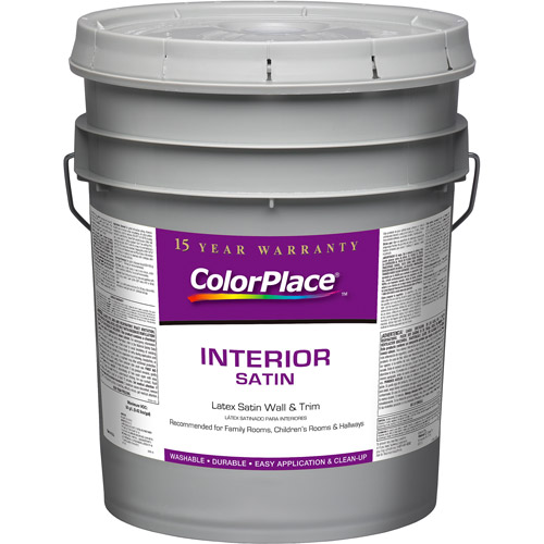 Colorplace Interior Satin White Paint, 5 Gal