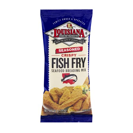 Louisiana seasoned crispy fish fry seafood breading mix for How to season fish for frying