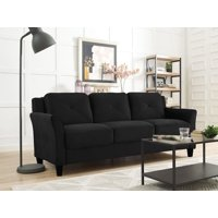 Lifestyle Solutions Taryn Curved Arm Fabric Sofa