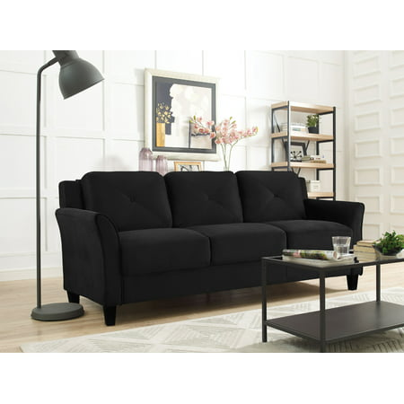 Lifestyle Solutions Taryn 78.75u0022 Curved-Arm Sofa