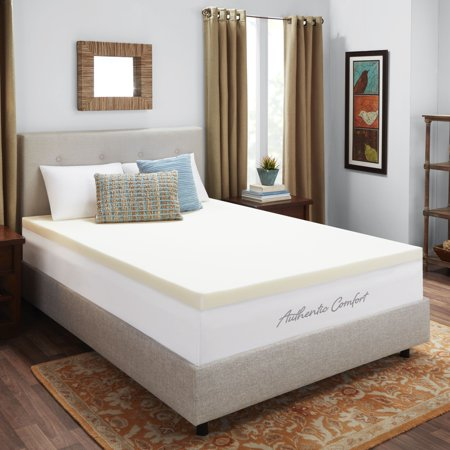 Authentic Comfort 3-Inch Breathable Memory Foam Mattress Topper, Twin