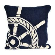 Liora Manne Frontporch Ship Wheel Indoor/Outdoor Pillow