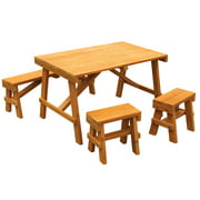 KidKraft Outdoor Picnic Table Set - Amber
