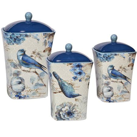 Certified International Indigold Storage Jar Set (Set of 3)