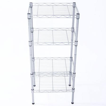 Zimtown 4 Tier Shelves Wire Shelving Rack Shelf Adjustable Unit Garage Kitchen Storage