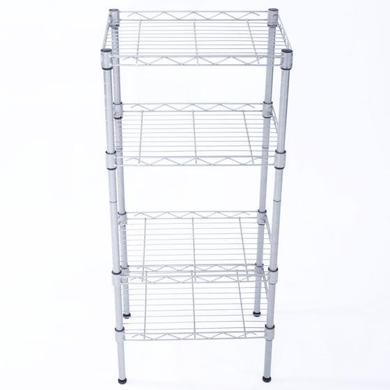 Zimtown 4 Tier Shelves Wire Shelving Rack Shelf Adjustable