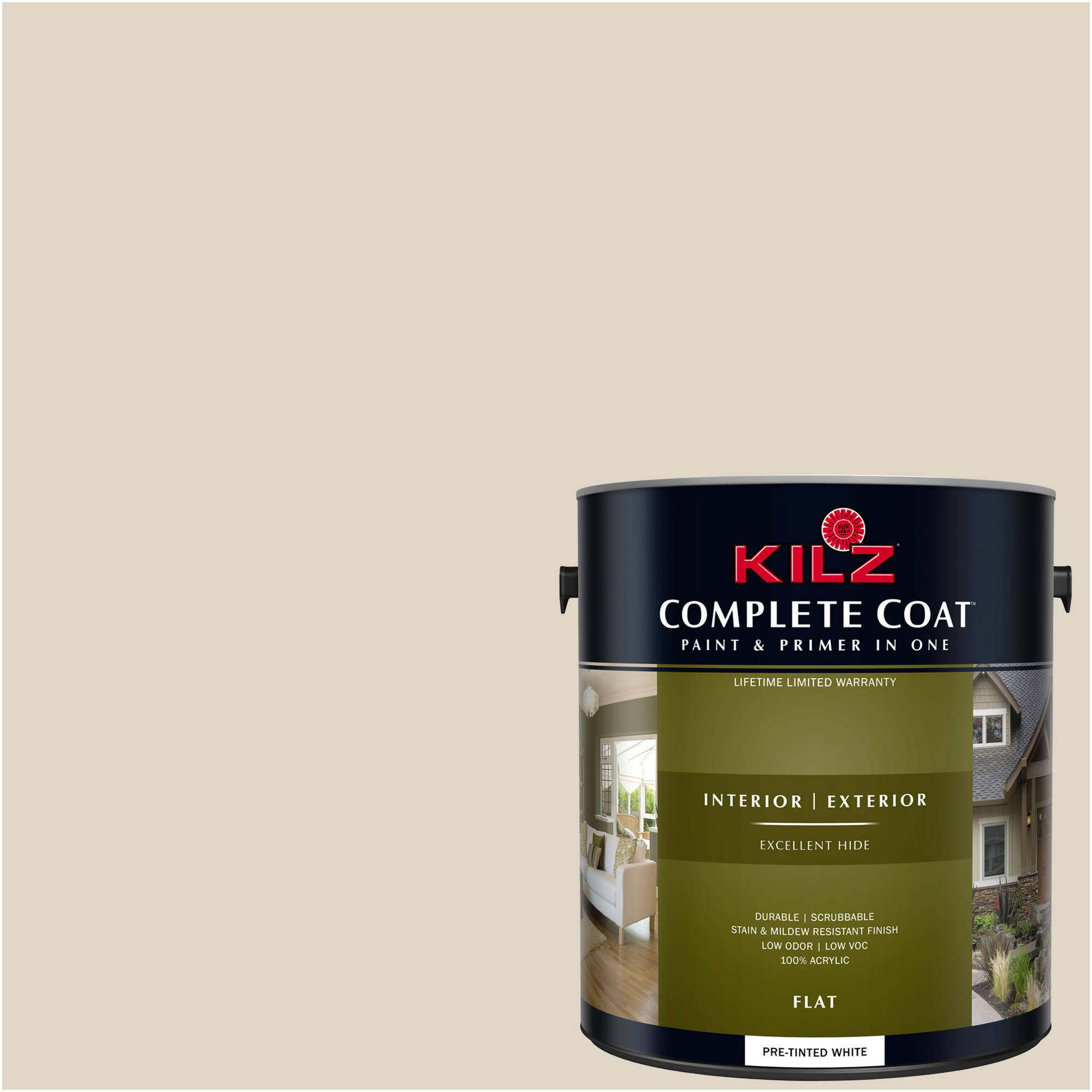 KILZ COMPLETE COAT Interior/Exterior Paint & Primer in One #LK220 October Mist