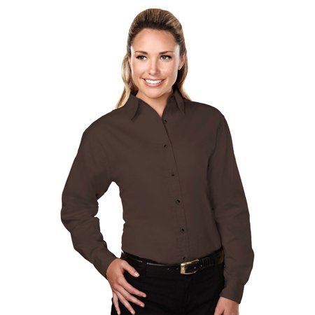 Tri Mountain Womens Stain Resistant Twill Dress Shirt