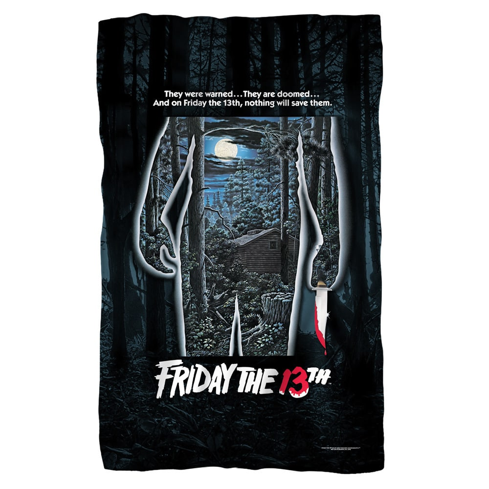 Trevco Friday The 13Th/Poster White Polyester Blanket