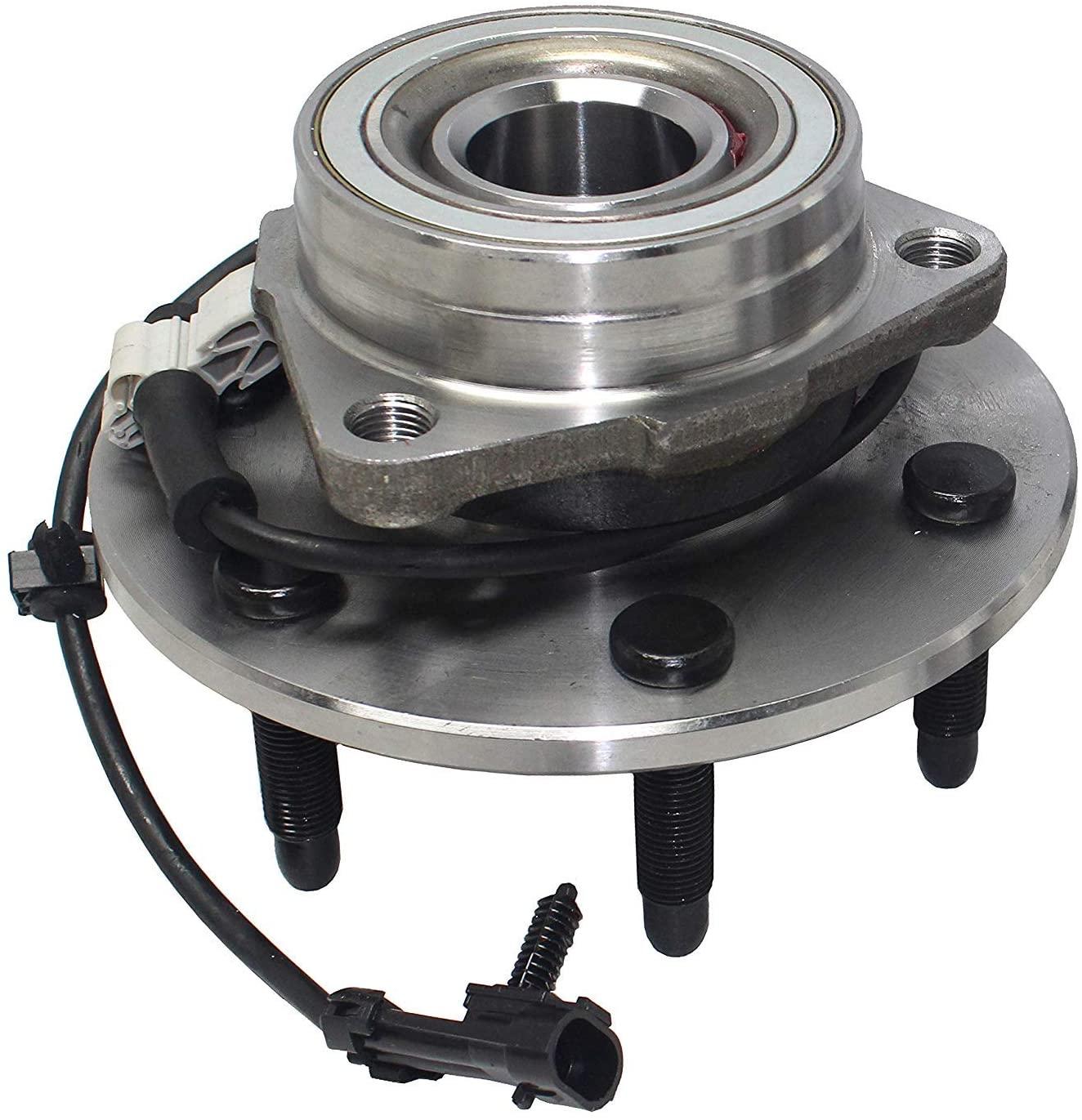 Front Wheel Bearing Hub Brake Rotor Pad Escalade Silverado 1500 Tahoe Yukon 4WD