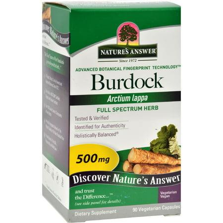 Burdock Root Extract Liquid (Nature's Answer Burdock Root - 90 Vegetarian Capsules)