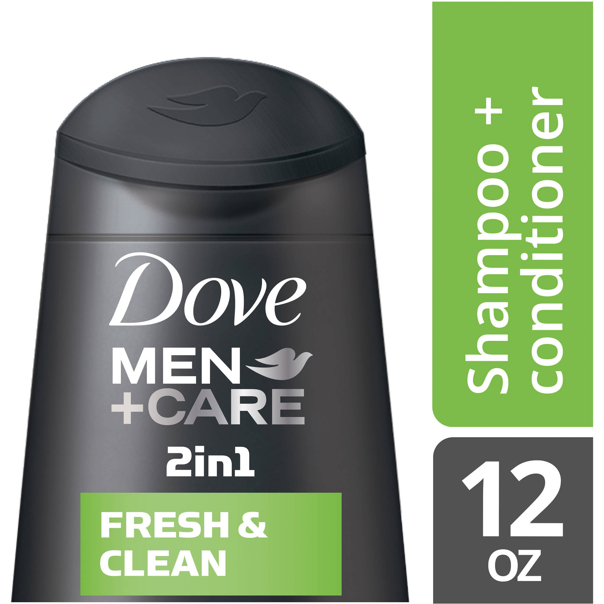 Dove Men+Care Fresh and Clean 2 in 1 Shampoo and Conditioner, 12 oz