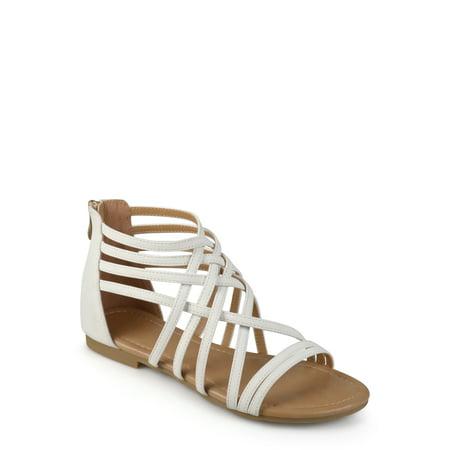 Womens Strappy Gladiator Flat Sandals ()