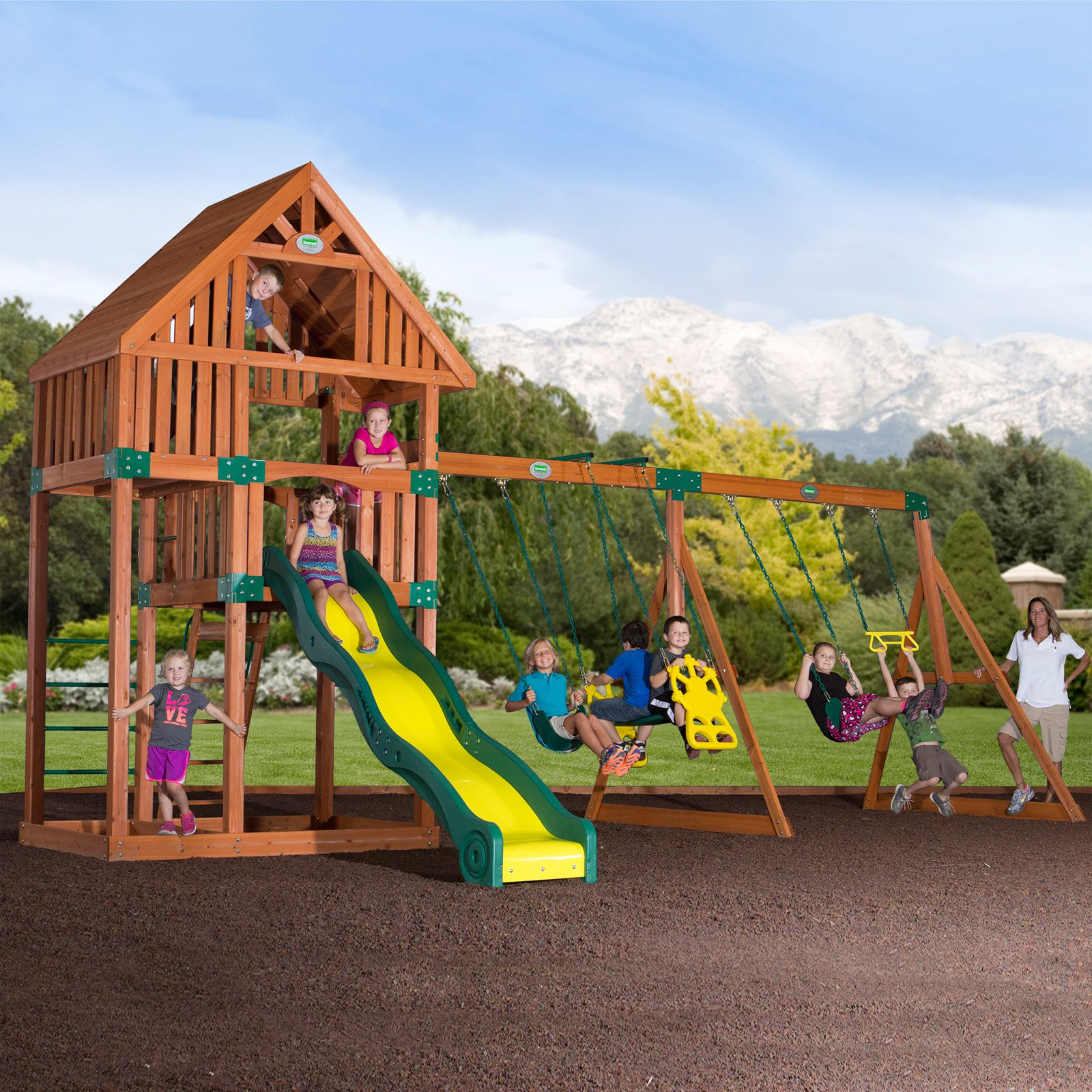 Backyard Odyssey Quest All Cedar Swingset